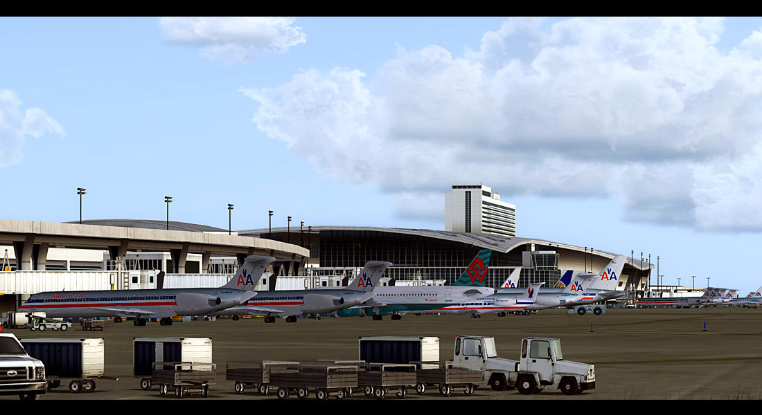 FSDreamTeam - Dallas/Fort-Worth airport scenery for FSX and FS9