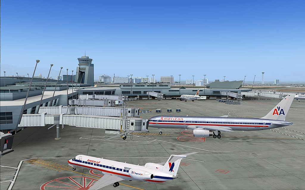 FSDreamTeam - Las Vegas McCarran airport scenery for FSX and FS9